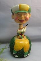 Bobble head golfer wine bottle stopper. Golf Novelty bar ware - $19.99