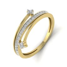 Gift For Her Beautiful Ring Engagement Jewelry White Diamond Gorgeous Gift Ring  - $499.99