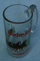 Budweiser Christmas Clydesdale glass mug 1989 - $8.00