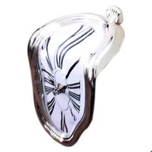 90 Degree Twisted Wall Clock Creative    silver - $23.99