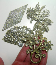LARGE VINTAGE OLD ART DECO NOUVEAU BROOCHES PINS LOT ROYAL OF PITTSBURGH... - $500.00