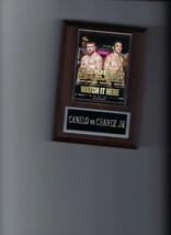 Canelo Alvarez Vs Julio Cesar Chavez Jr Poster Plaque Boxing Picture Plaque - $3.95