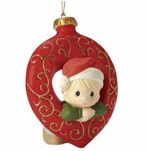 Precious Moments Christmas Ornament You Fill My Heart Boy Santa Hat Red ... - $28.70