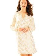 $298 LILLY PULITZER 4 COLBY SILK TUNIC DRESS Resort White Metallic Starf... - $88.11