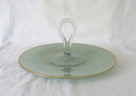 Westmoreland Glass, Handled Sandwich Tray, Line 1800, circa 1920's-30's - $20.00
