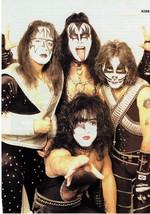 Kiss teen magazine pinup clipping Bop Teen Beat Paul Stanley Rockline Make Up