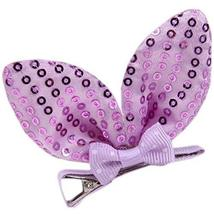 Set Of 5 Cute Rabbit Ears Side Clips Hair Pins Hair Accessories(Purple S... - $13.20