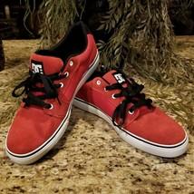 2011 Mens DC Shoes Anvil Red & Black Skateboarding Athletic Shoes 303190 Sz 12 - $59.95