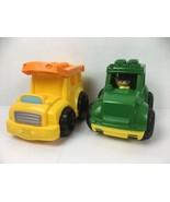 Mega Bloks Big Blocks John Deere Lil Tractor & ABC Bus Vehicles 1 Person... - $13.25