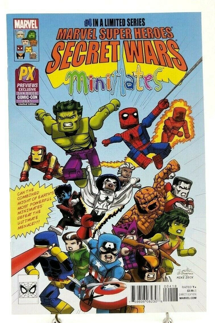 Secret Wars #4 SDCC 2015 Minimates Convention Variant Cover Marvel Comics Book