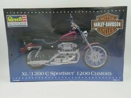 Revell Monogram Harley-Davidson XL 1200C Sportster 1200 Custom Model 1:8... - $59.35