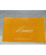 DODGE MONACO    1975 Owners Manual 16401 - $18.76