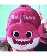 Baby Shark Backpack Cartoon Song Kid Plush Soft Animal Kindergarten Scho... - $18.02