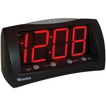 "Westclox 66705 Oversized Snooze Alarm Clock, Black, 1.8"" - $25.62"