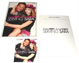 2002 SERVING SARA Movie PRESS KIT & CD Mathew Perry Elizabeth Hurley - $12.99