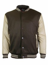 Men's Premium Classic Snap Button Baseball Letterman Varsity Jacket w/ Defect