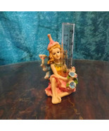 Rain Gauge Pixie Fairy Figurine by Yardworks Originals Pottery Outdoor G... - $6.50