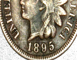 Indian Head Penny 1892, 1895,  1896 and 1897 AA20-CNP2130 Antique image 4