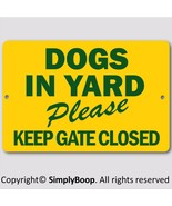"""Beware of Dog Keep Gate Closed Sign 100% Aluminum Brand New 8"""" x 12"""" Gre... - $15.83"""