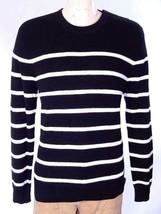 Polo Ralph Lauren Men's Stripe Sweater Black White Linen ST. BARTH SZ L ... - $83.67