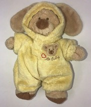 """Ty Love To Baby Bear Yellow Bunny Outfit Removable Pluffies Small 7"""" 2004  - $33.85"""