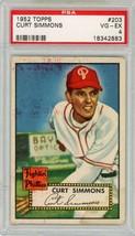 1952 Topps Curt Simmons #203 PSA 4 P665  See Description Below - $24.11