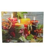 Fall Thanksgiving Wall Decor Holiday Decorations Seasonal LED Hanging Ha... - $25.53