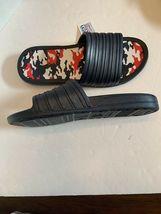 Men tunnel slides sandals blue camo camouflage insole pick size 11-13 image 4