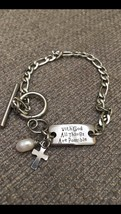 New Stainless Steel Engraved Inspirational Gratification Chain Bracelet  - $18.99