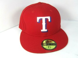Texas Rangers New Era Red Alternate Authentic On-Field 59FIFTY Fitted 7 1/2 Hat  - £18.24 GBP