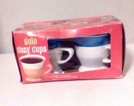 Vtg. Green Solo Cozy Cups 10-7 oz Plastic Cups 2 Lifetime Holders Factor... - $11.88