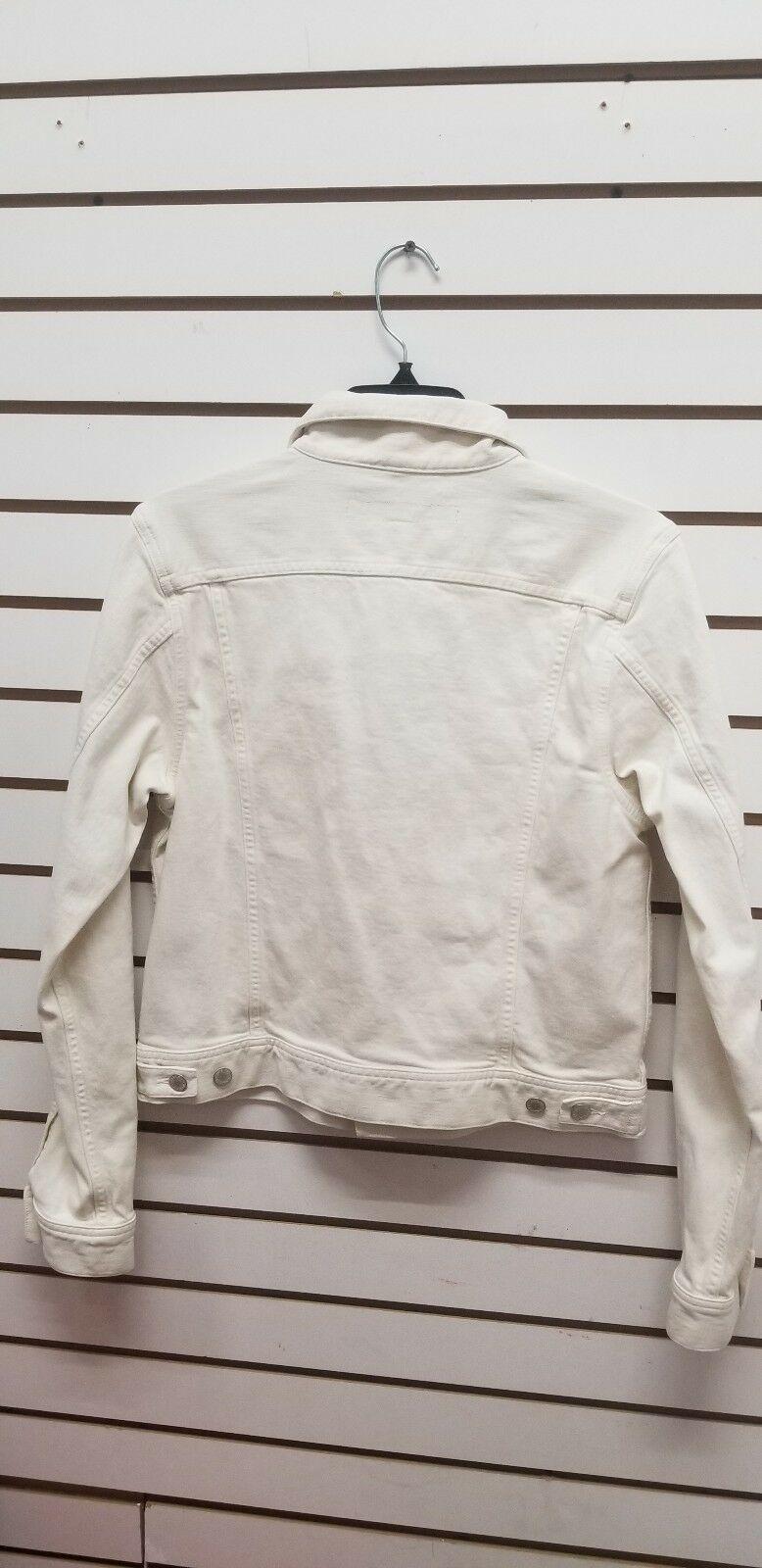 Ralph Lauren Women's Black Label ivory Denim Button Down Jean Jacket Sz 12