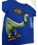Epic Threads Boys Graphic Print Dinosaur T-Shirt Blue Size 3T NWT - $11.30