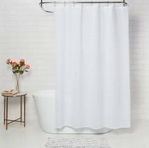 Threshold White Woven Stripe Shower Curtain 72x72 NEW - $19.79