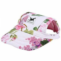 Cade Flower Pattern Nylon Baseball Cap/ Dogs Hat Visor Cap with Ear Hole... - $8.41