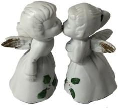 ENESCO Kissing Christmas Angels White Porcelain - $9.99