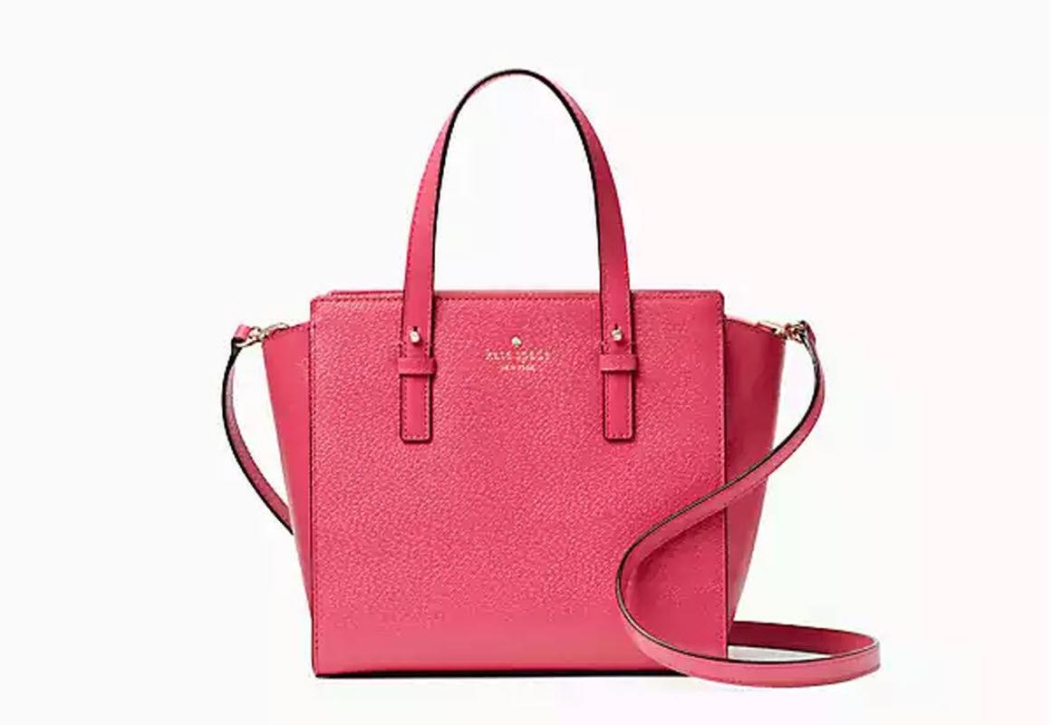 f1debb5d6bcd Kate Spade Grand Street Small Hayden Radish Leather Satchel Handbag