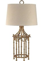 """HORCHOW Bamboo Table Lamp French Asian Gold Chinoiserie Mid Century Regency 32"""" - $284.12"""