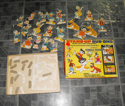 Disney Stand Up Rub Ons Vintage Toy Hasbro Donald Duck Pluto Scrooge Goofy + - $19.99