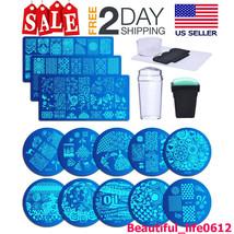 15 Pcs Kit De Estampado Plantillas Para Diseño Arte De Uñas Manicura Pro... - $16.82