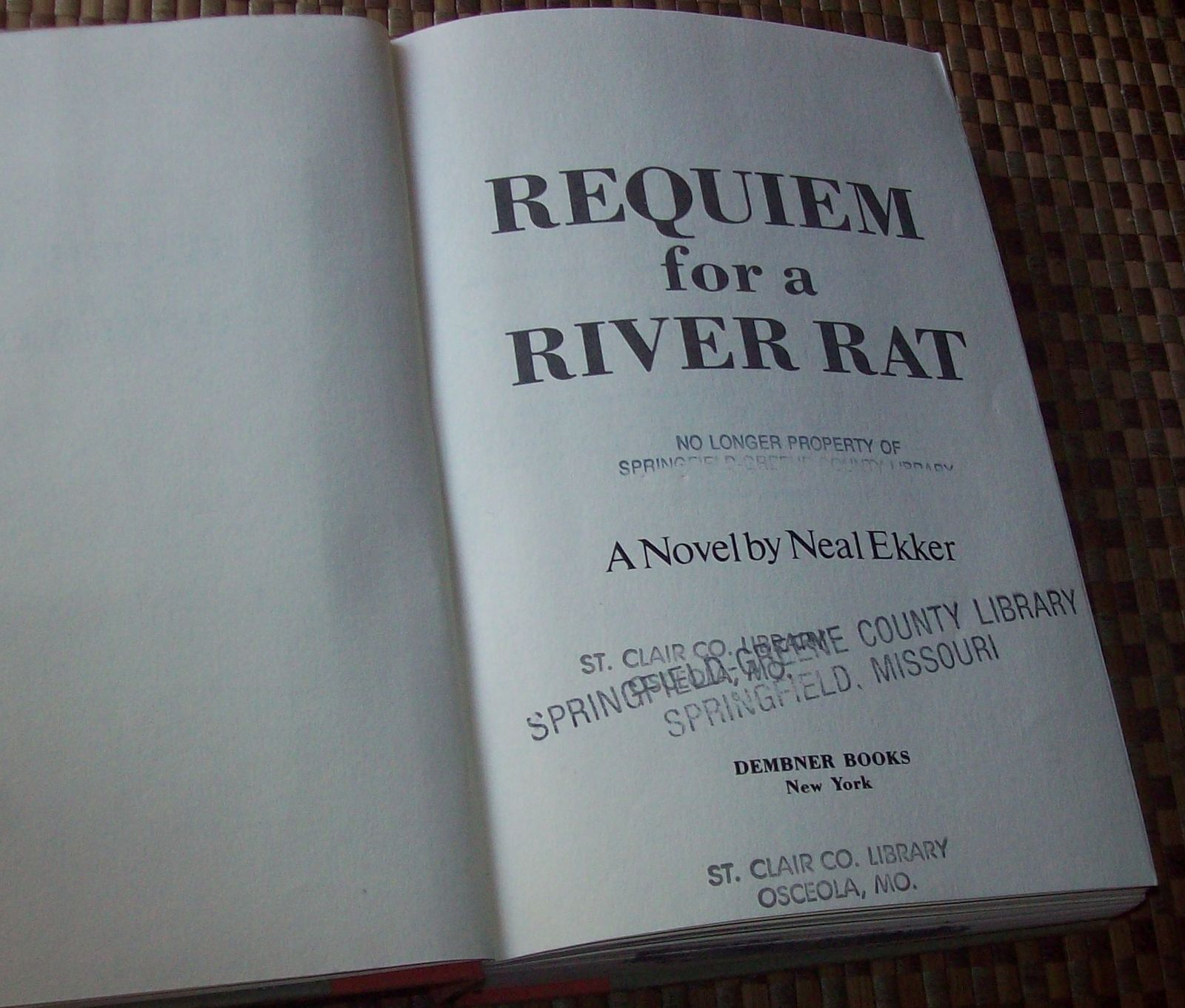Requiem for a River Rat by Neal Ekker 1985 HBDJ Grand Canyon
