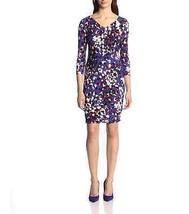 Anne Klein Petite Dress Sz 4P Purple Cinnamon Multi Business Cocktail Je... - $59.35