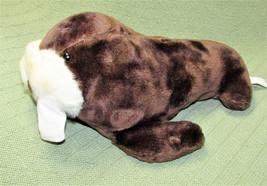 "Vintage 1988 Sea World WALRUS Plush Stuffed Animal Brown White TUSKS 14""... - $23.36"