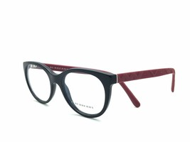 Burberry BE B 2176 Eyeglasses Frames Black Matte Red 3498 Authentic 51mm - $67.75