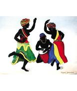African American Art Print Romeo Downer Ebony Dancers Poster -Rare Hot N... - $14.99