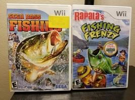 Lot 2 Nintendo Wii Games Rapala's Fishing Frenzy Sega Bass Fish Sports G... - $14.54