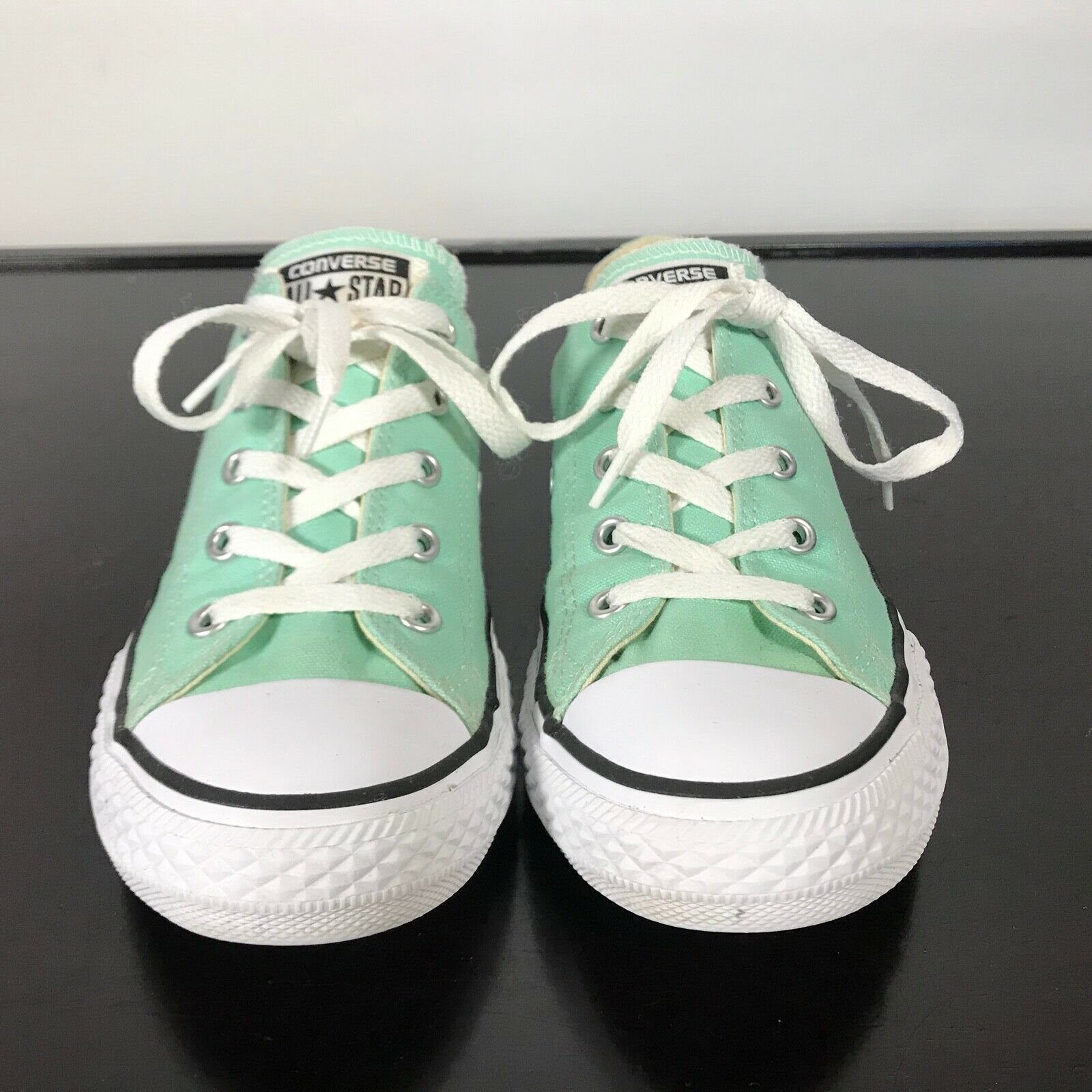 Converse All Star Chuck Taylor-  youth Sz 3,  Mint Green canvas shoes. Nice! image 2