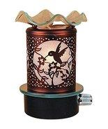 L&V Electric Metal Plug In Night Light Wax Burner Oil Warmer Hummingbird... - $20.55