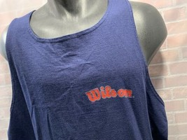 Vintage Wilson Neuf Marine Bleu Débardeur T-Shirt Hommes Taille XL - $18.70