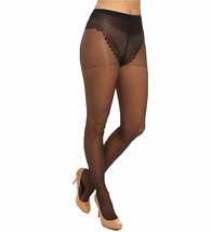 Hue BLACK So Sexy French Lace Sheers Control Top Pantyhose, US 1 - $4.70